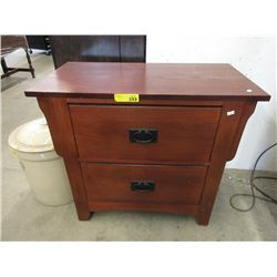 Large 2 Drawer End Table / Night Stand