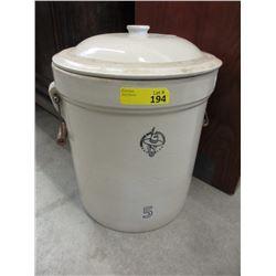 5 Gallon Medicine Hat Potteries Crock