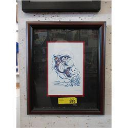 Richard Shorty Framed Print - Dolphin