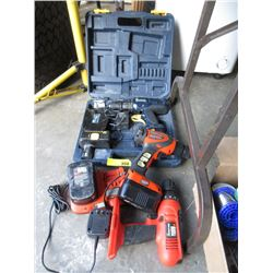 3 Cordless Drill with Batteries