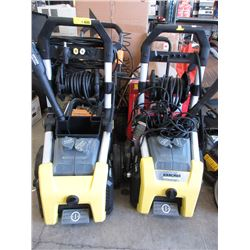 Two 1900 psi Karcher Pressure Washers