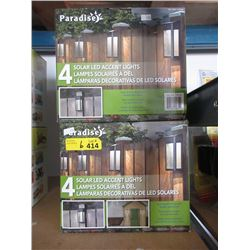 2 Sets of 4 Solar LED Accent Lights
