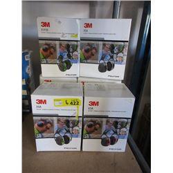6 Assorted 3M Earmuffs - Store Returns
