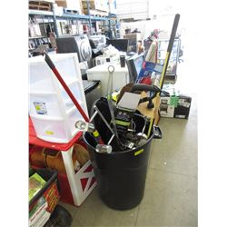 Large Garbage Can Full of Store Return Goods