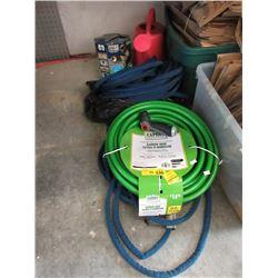 Sprinkler Hose Nozzle & 3 Garden Hoses