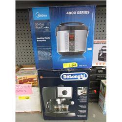 Midea Rice Cooker & DeLonghi Espresso Machine