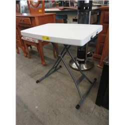 Small Adjustable Height Table