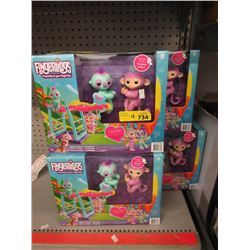 4 New Fingerlings Monkeybar Playsets