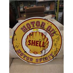 "28"" Steel Shell Sign with Vintage Image"