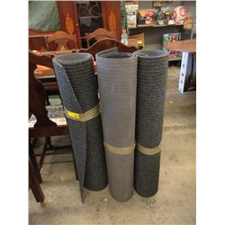 3 Grey Rubber Backed Mats