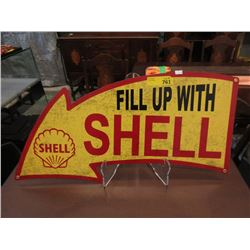 Steel Shell Arrow Sign with Vintage Image