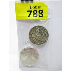 Two 1/2 Ounce .999 Fine Silver Rounds