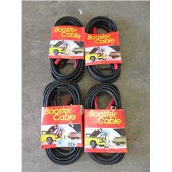 4 Sets of New 12 Foot Jumper Cables