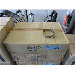 "2 Cases 2-1/4"" Hose Clamps"