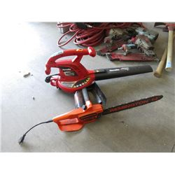 Electric Chainsaw & Blower