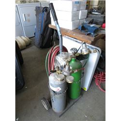 Oxygen Acetylene Torch Set with Cart