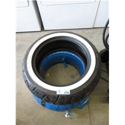 Pair of Bridgestone 180/70-15 M/C Motorcycle Tires