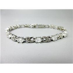 Diamond & White Topaz Tennis Bracelet