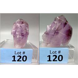 789.5 CT 6 Point Amethyst Gemstone Healing Skull