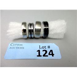 2 Titanium & 2 Tungsten Men's Rings