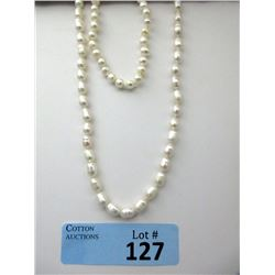 Hand Knotted Pearl Necklace & Bracelet
