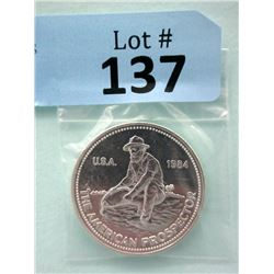 1 Oz. .999 Fine Silver 1984 Engelhard Round