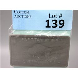 1 Oz. .999 Fine Titanium Buffalo Investor Bar