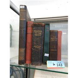 Two 1911 and Four 1940's Hardcover Books