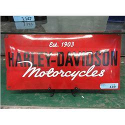 """Vintage 10 x 20"""" Harley Davidson Porcelain Sign"""