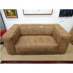 New 5 Foot Brown Faux Suede Sofa