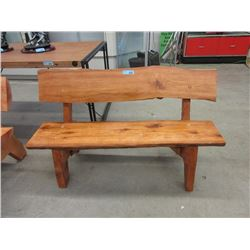 Four Foot Long Hand Crafted Cedar Bench