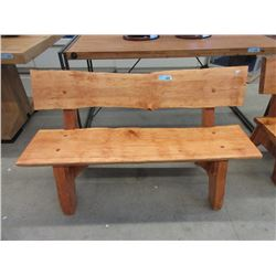 Four Foot Long Hand Crafted Pine Bench