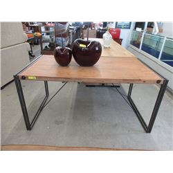 New Wood Dining Table with Metal Frame