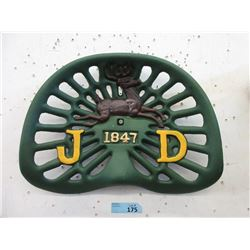 Cast Iron John Deere Tractor Seat - 17 x 14 Inches