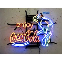 New Electric Neon Coca-Cola Parrot Sign