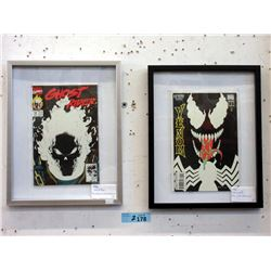 Two Framed 1991 Glow in the Dark Comics