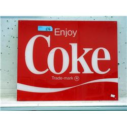Vintage Acrylic Coca-Cola Sign
