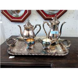 5 Piece Silver Plated Coffee and Tea Service