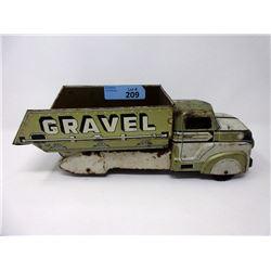 1950s Marx Sand & Gravel Tilt Dump Truck