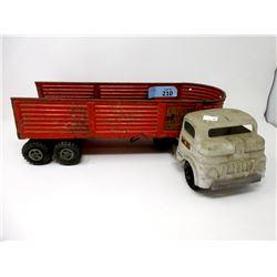 1950s Structo Steel Cargo Semi-Truck & Trailer