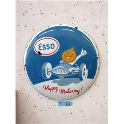 """Vintage 16"""" Porcelain Esso Sign"""