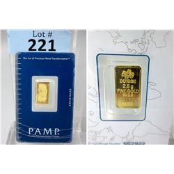2.5Gram .9999 Gold Lady Fortuna Bullion Bar