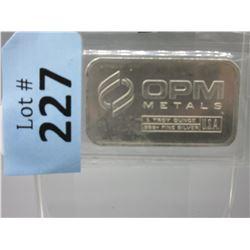 1Oz. Ohio Precious Metals .999+ Silver Bar