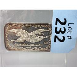 1 Oz. Eagle/Flag .999 SilverBar