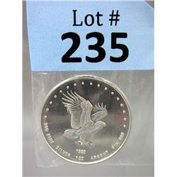 1 Oz Eagle Motif .999 Silver Round