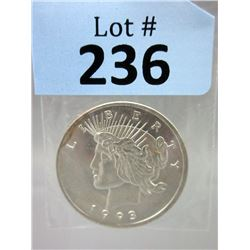 1 Oz. Lady Liberty .999 Silver Art Round