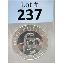 1 OzFirst Majestic Mint.999 Silver Round