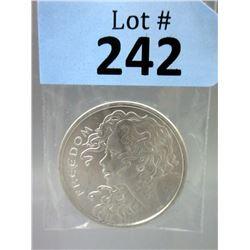1 Oz Freedom Girl .999 Silver Art Round
