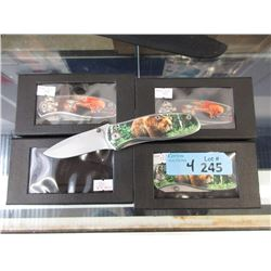 """4 New Folding Knives with 3"""" Blades"""