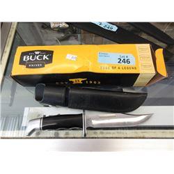 USA Made Buck Knife with Sheath & Box
